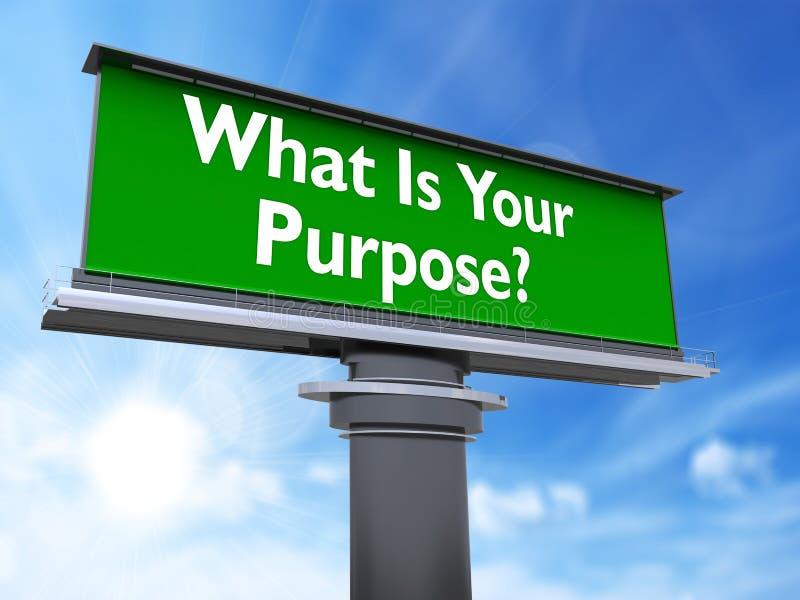 Co jest twój purpose ilustracja wektor