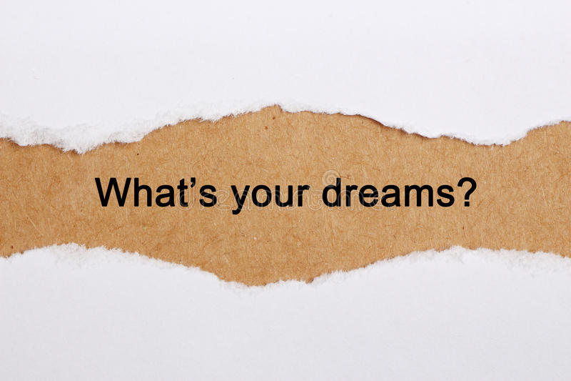 Co jest twój sen zdjęcia royalty free
