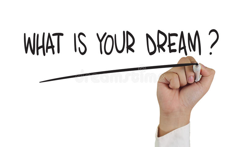 Co jest Twój sen? obrazy stock