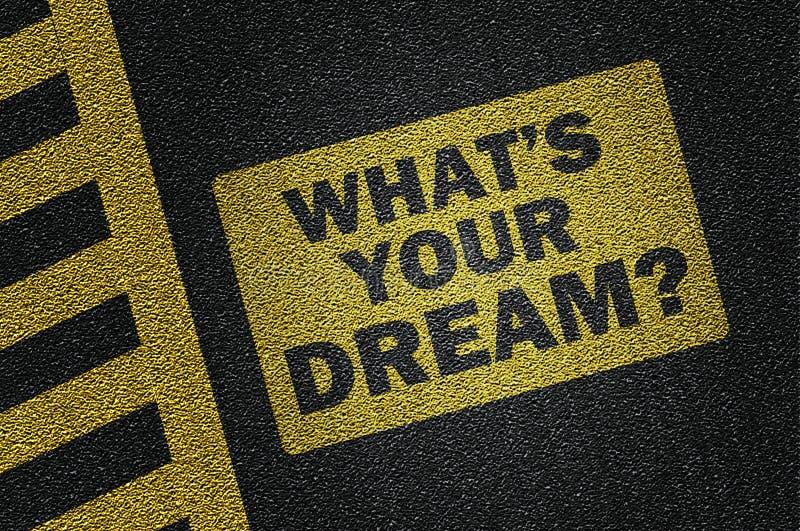 co jest twój sen? royalty ilustracja