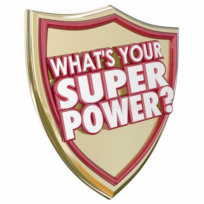 Co jest Twój supermocarstw słów osłony siły Możnym zdolnością Capabi ilustracji