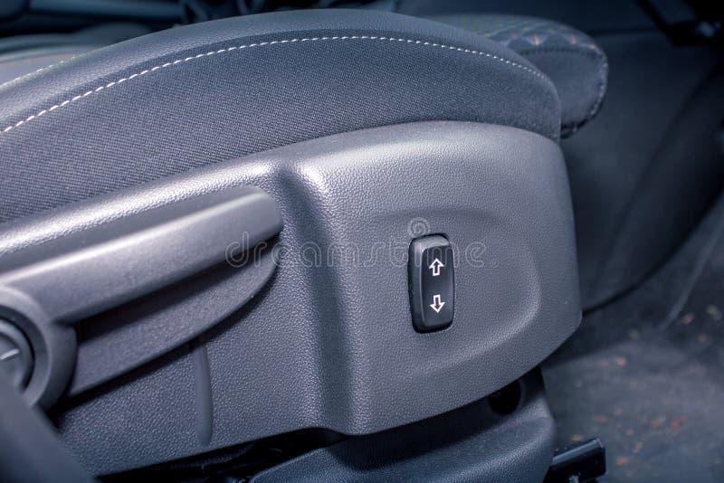 Co miejsca kierowcy dostosowania guziki zdjęcia stock