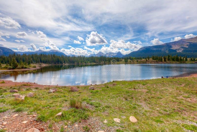 CO-Molas Lake along route 550 stock images