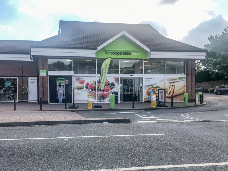 Co-op Supermarket on Dibdale Road Dudley West Midlands. Dudley West Midlands UK June 19 2019 Co-op on Dibdale Road in Dudley shortly after a trio of masked armed stock images