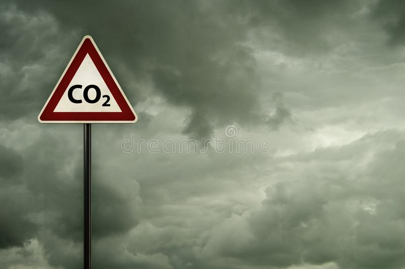 Co2 op roadsign vector illustratie