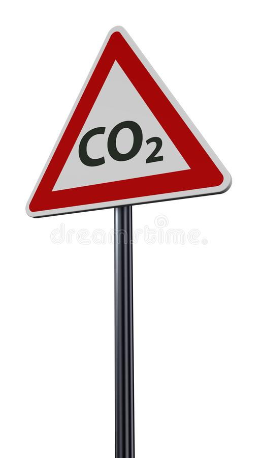 Co2 op roadsign stock illustratie