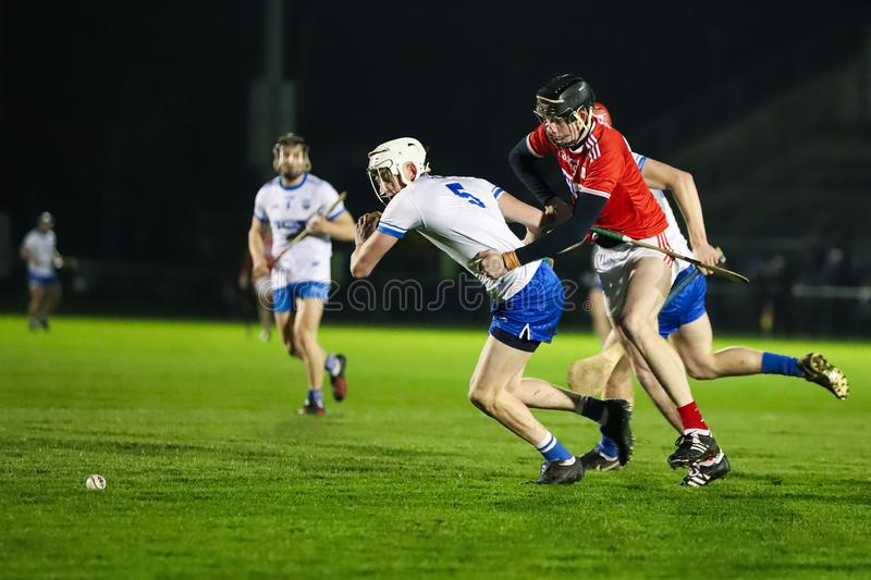 Co-Op Superstores Munster Hurling League 2019 match between Cork and Waterford at Mallow GAA Sports Complex. January 2nd, 2018, Mallow, Ireland - Co-Op stock photos