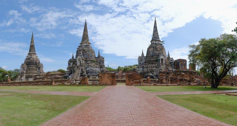 Co Phra Si Sanphet, znane miejsce Ayuthaya, Tajlandia, Azja Południowo-Wschodnia obrazy stock