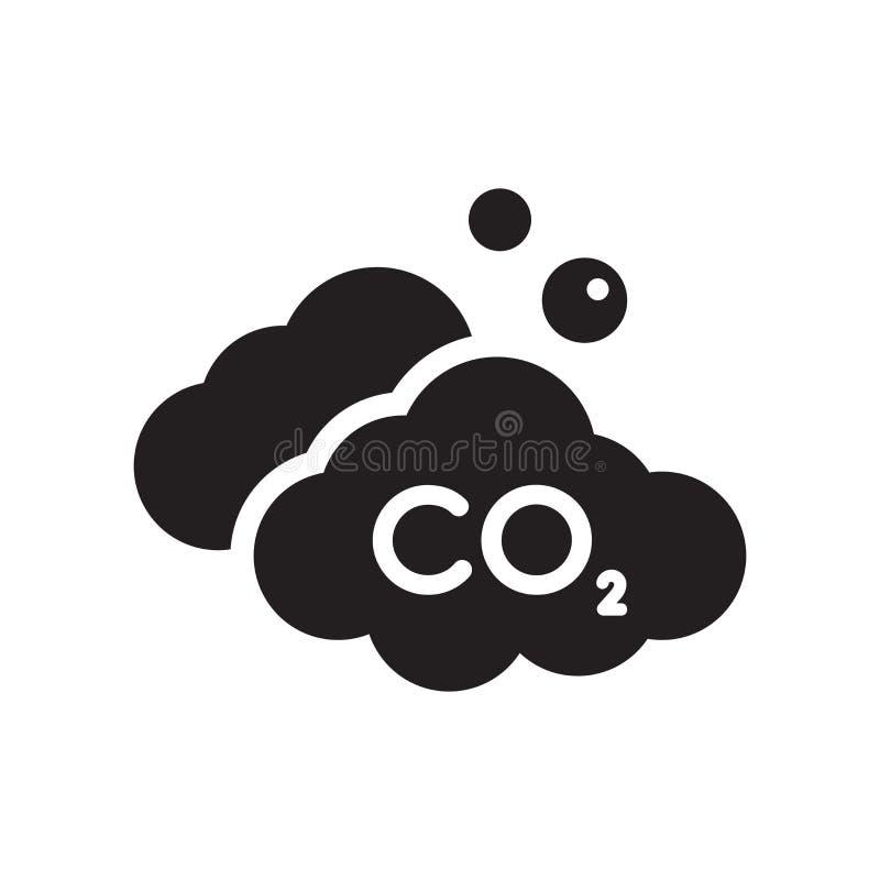 Co2-pictogram  royalty-vrije illustratie