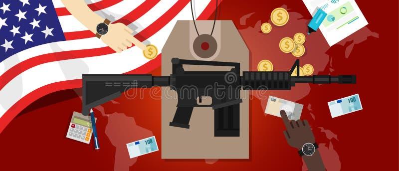 Coût de militaires de la défense de contrôle des armes de sciences économiques de conflit de guerre illustration libre de droits