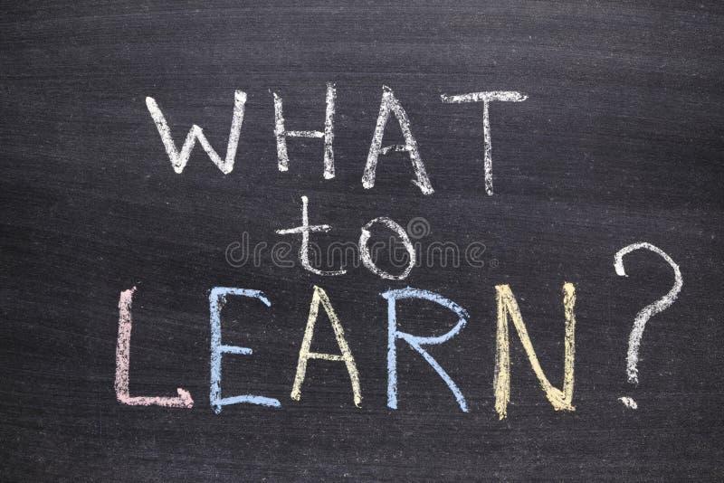 Co uczyć się