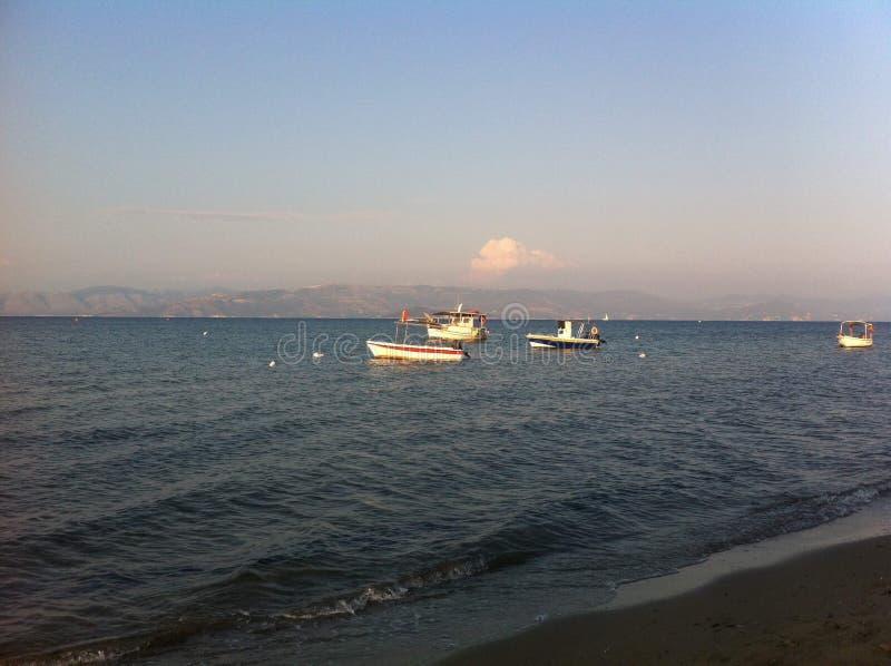 Co Unosi się Twój łódź fotografia royalty free