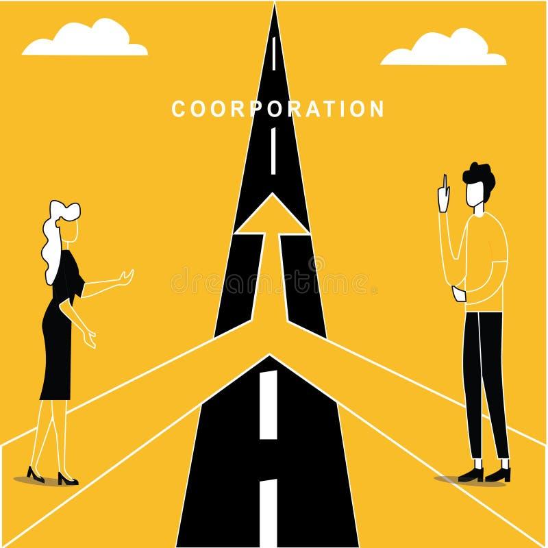 Co-Verrichtings Bedrijfskans vector illustratie