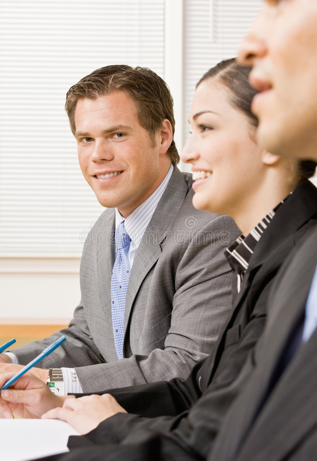 Download Co-workers in meeting stock photo. Image of confidence - 6601142