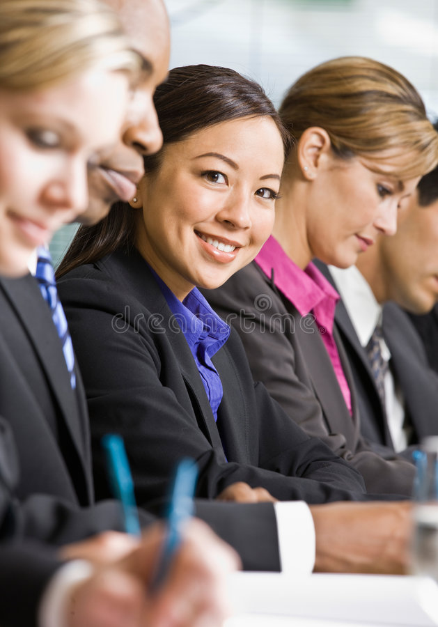 Free Co-workers Meeting At Table In Conference Room Royalty Free Stock Photography - 7148577