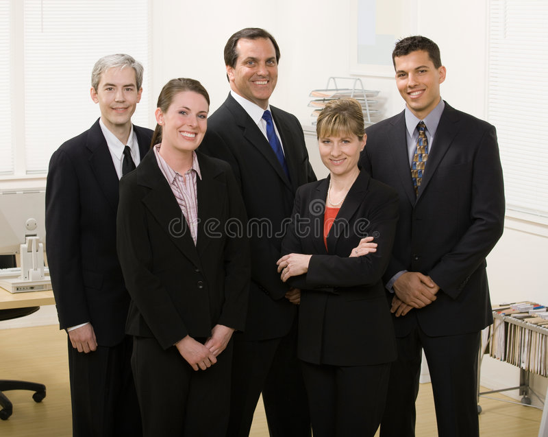 Download Co-workers Posing In Office Stock Image - Image: 6580665