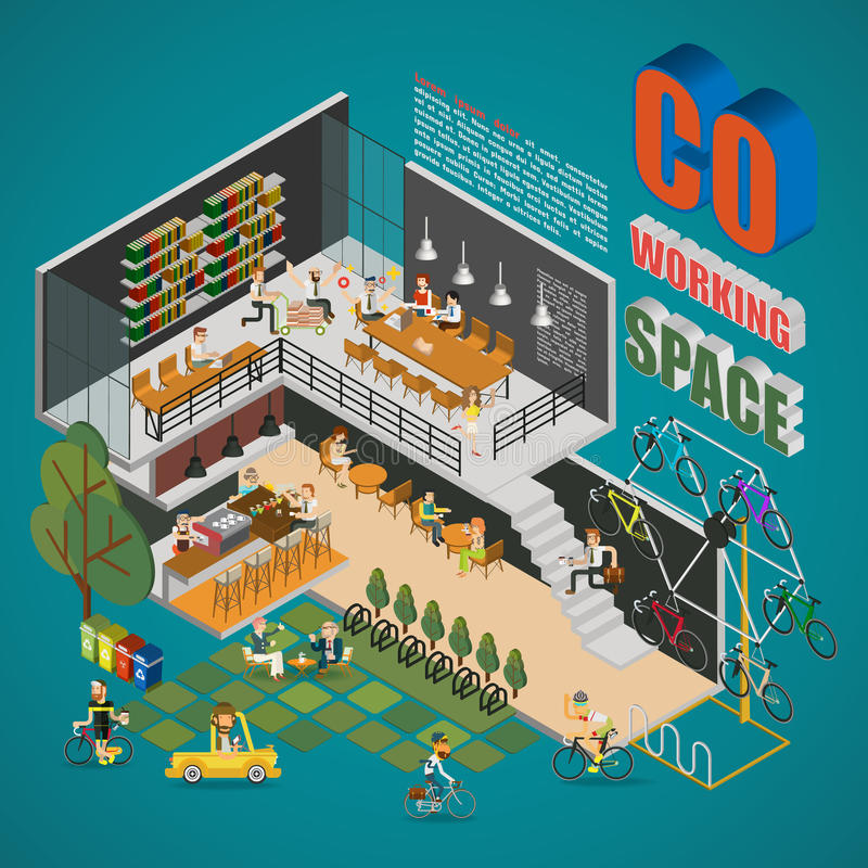 Co-working Space stock illustration