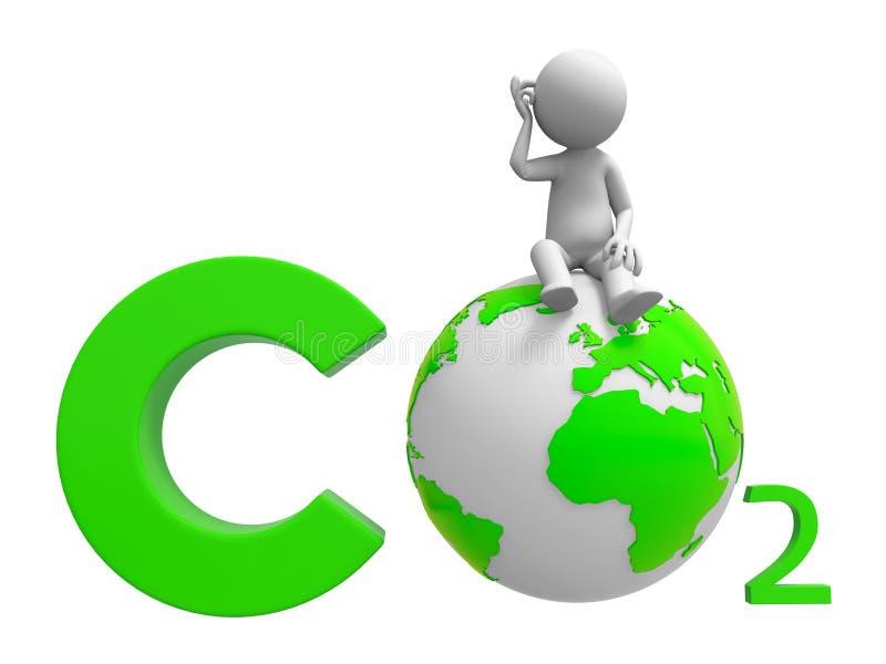 CO2 y tierra libre illustration