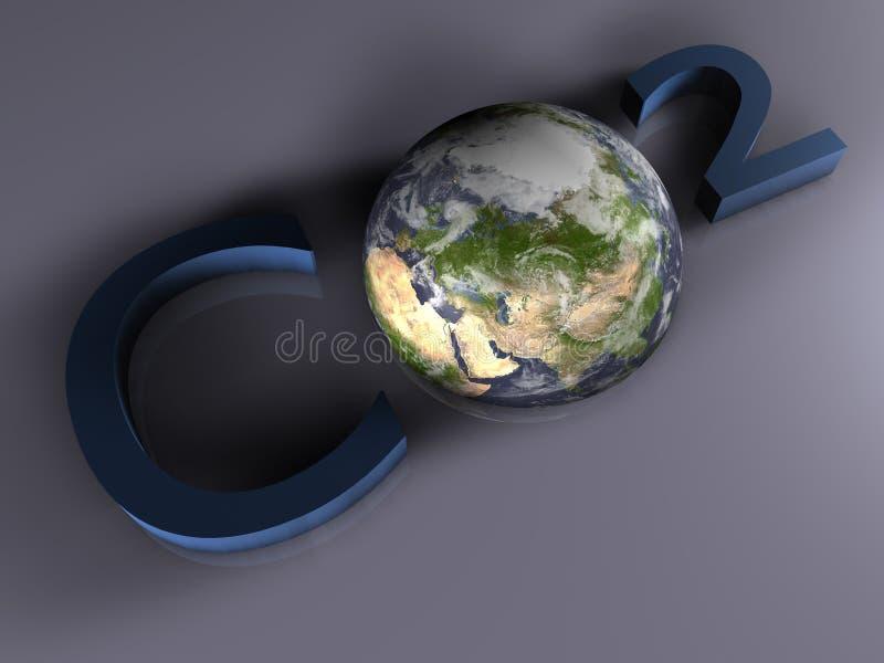 CO2 - 3D illustrazione vettoriale