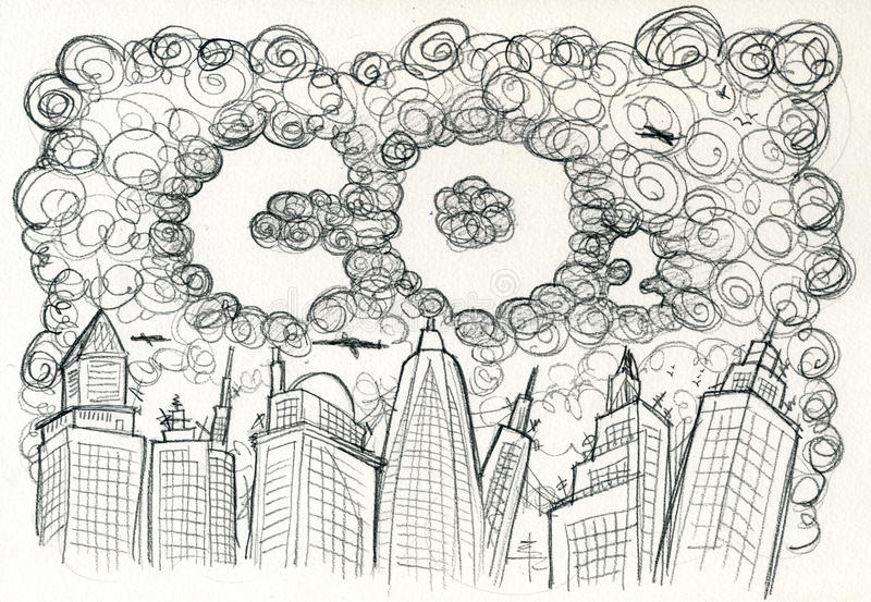 Download CO2 City and pollution stock vector. Image of artistic - 13937845
