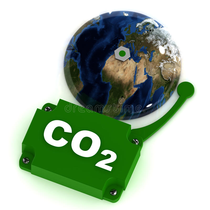 Co2 Eco Bell royalty free illustration
