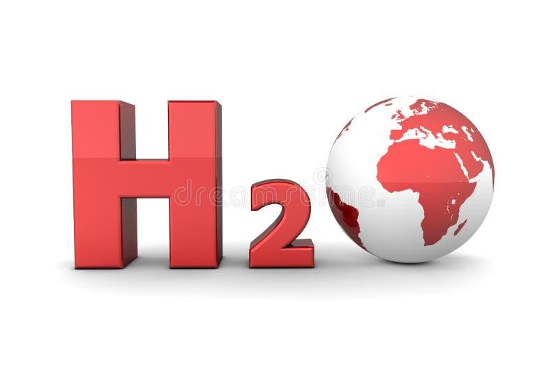 CO2 globale dell'anidride carbonica - colore rosso lucido illustrazione di stock