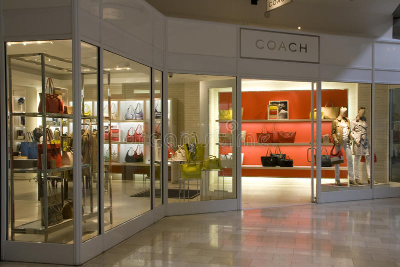 Coach brand fashion store royalty free stock image