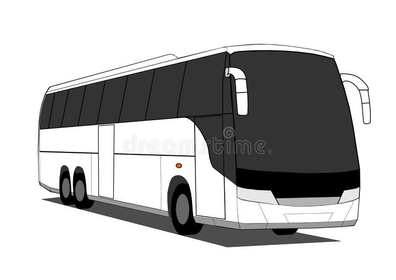 Coach bus royalty free illustration