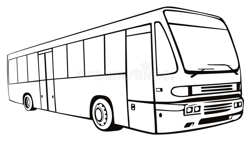 Coach bus. Vector art of a coach bus on white background stock illustration