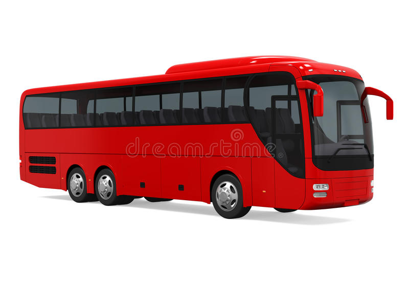 Coach Bus Isolated. On white background. 3D render vector illustration