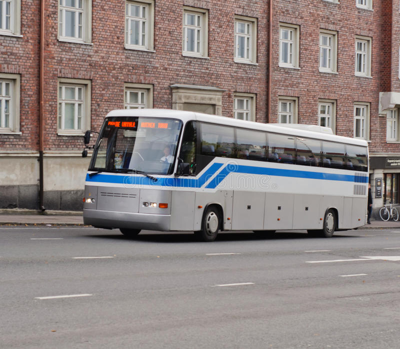 Download Coach bus on street stock image. Image of architecture - 27560161