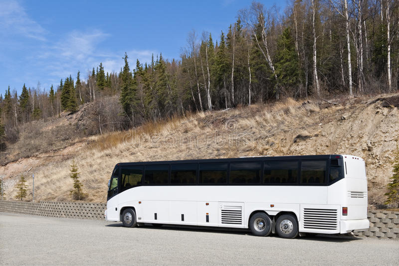 Coach in Denali National Park stock photos