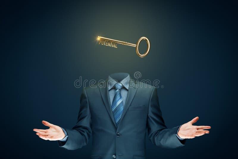 Coach heeft een sleutel tot het ontsluiten van potentieel - motivatie concept stock foto