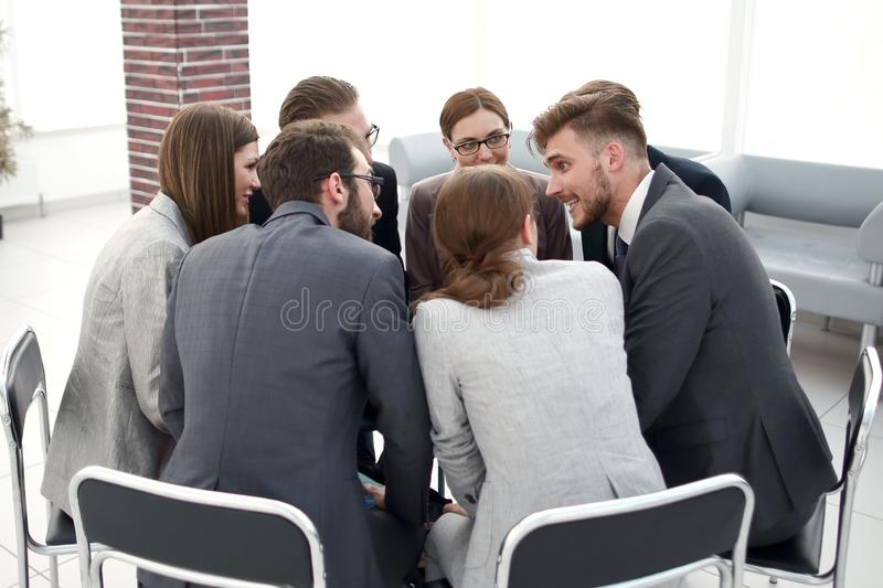 Coach holds a master class with the business team stock image