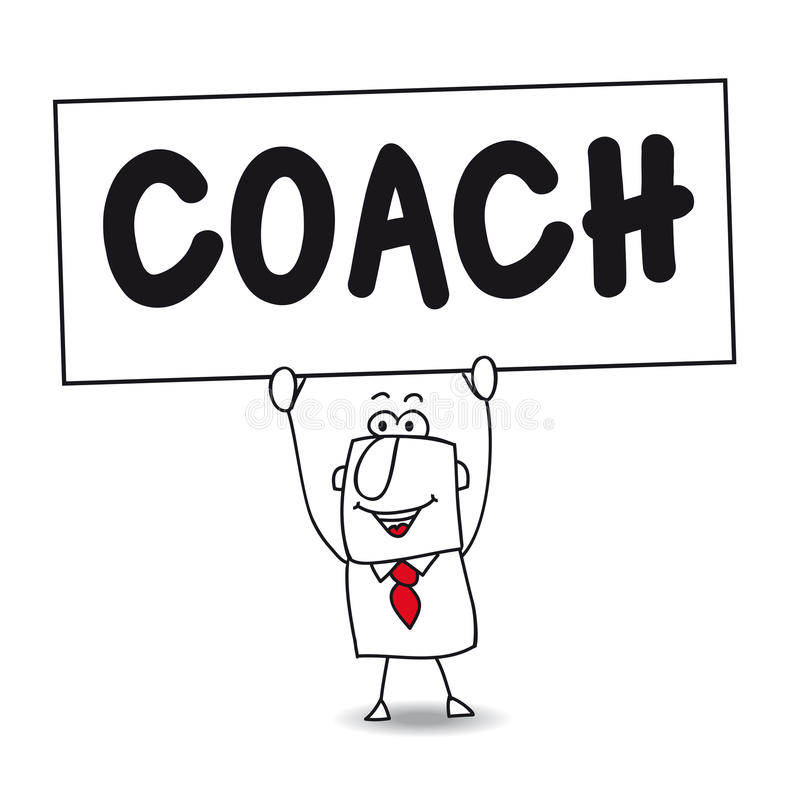 The coach royalty free illustration