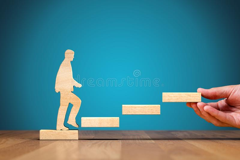 Coach motivate to personal development and growth stock images