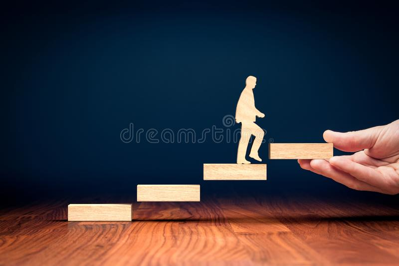 Coach motivate to personal development royalty free stock photos