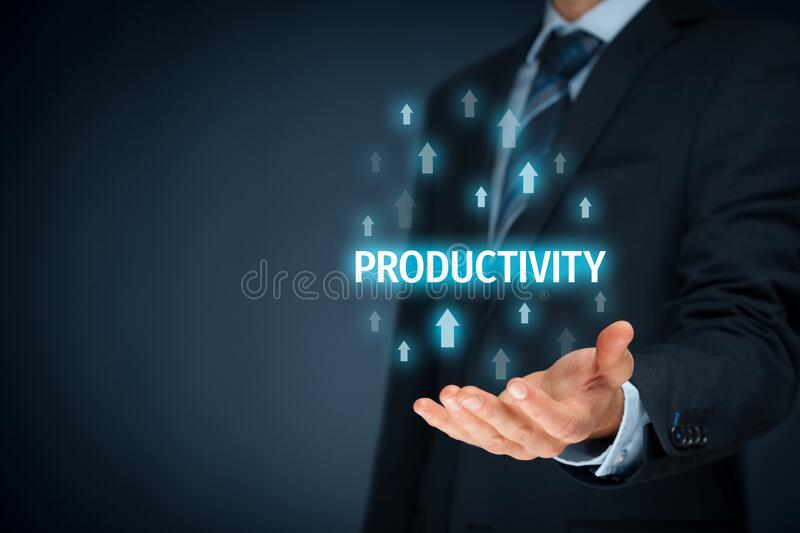 Coach motivate to productivity improvement. Manager businessman, coach, leadership plan to increase company productivity royalty free stock photo