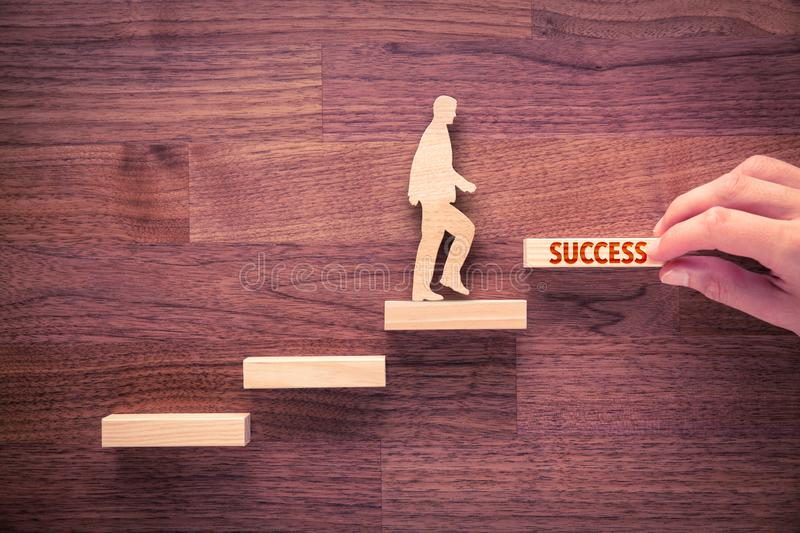 Coach motivate to succeed royalty free stock image