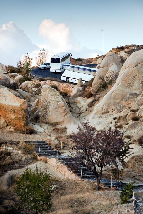 Coach Mountain Trip stock photo