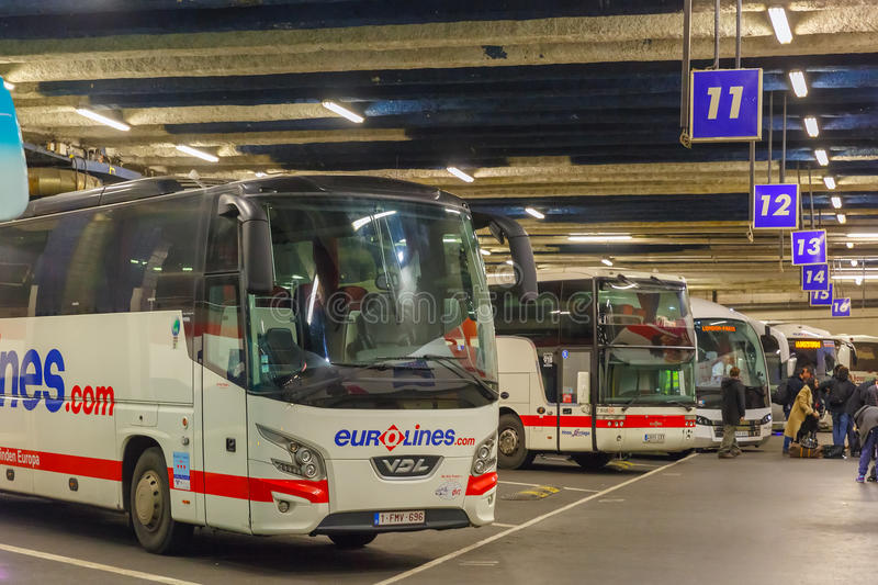 Coach station Eurolines Paris Gallieni Porte royalty free stock photo