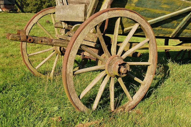 Coach wagon wheel royalty free stock images