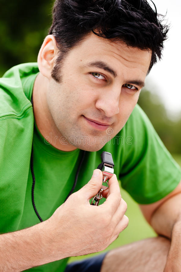 Download Coach with whistle stock photo. Image of person, coach - 23206328