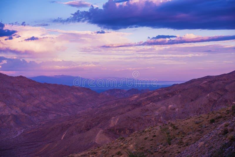 Coachella doliny sceneria obrazy stock