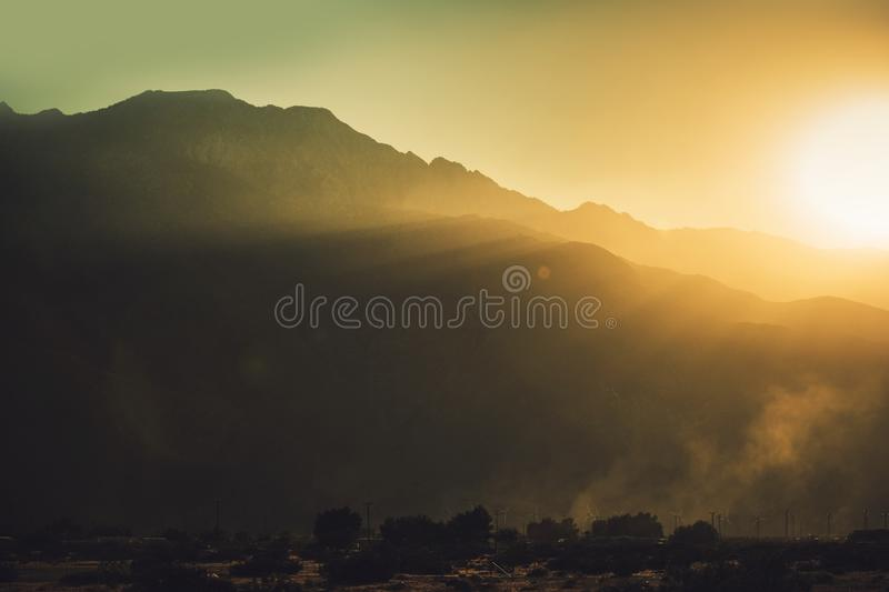 Coachella Valley California immagine stock