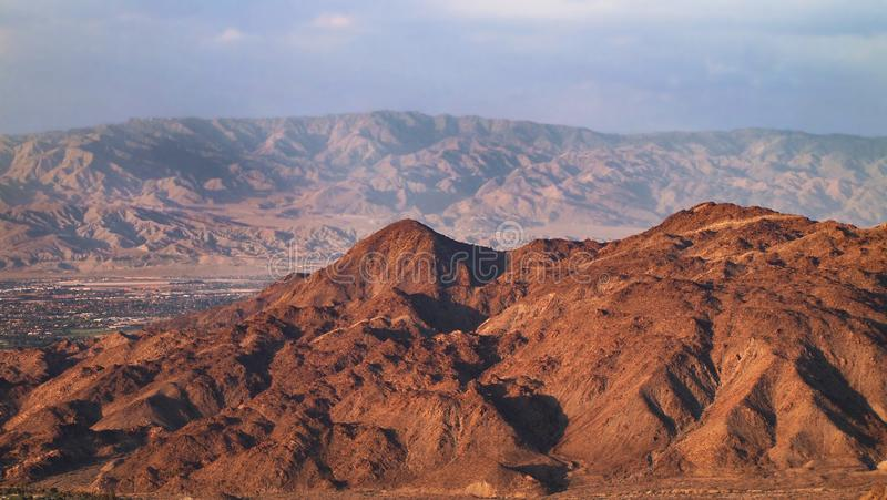 Coachella Valley San Jacinto And Santa Rosa Mountains stockfotografie