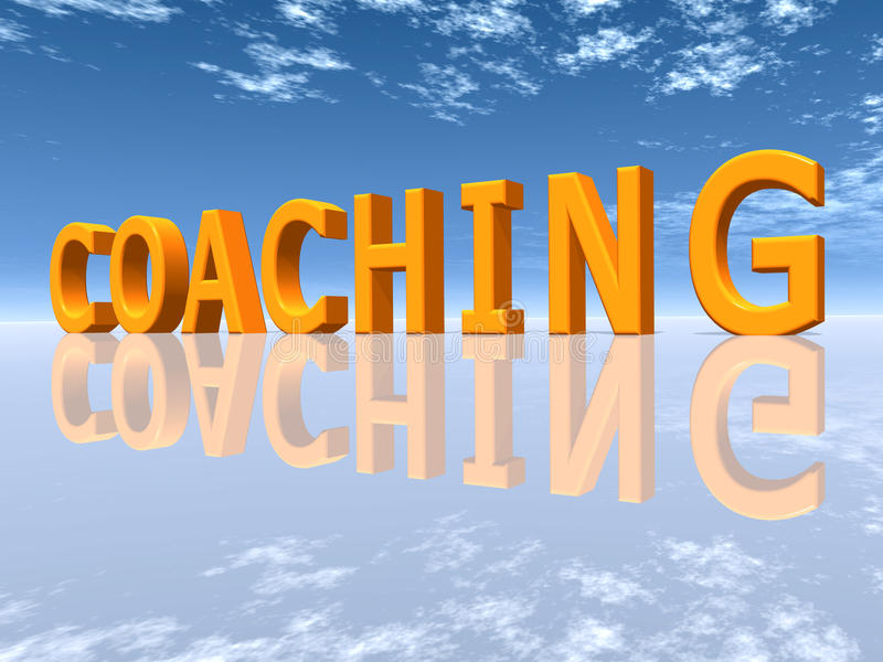 Coaching. The word COACHING - Computer generated 3D illustration
