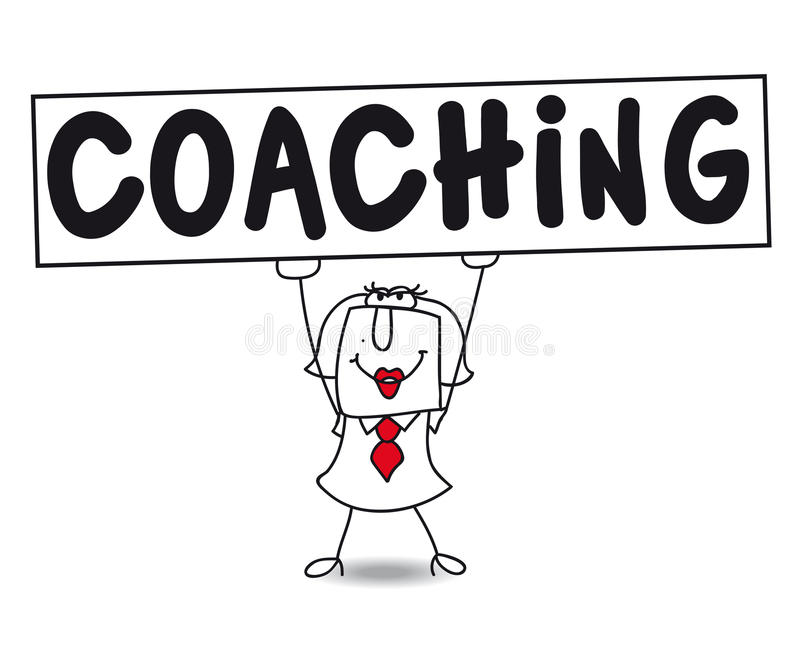 coaching royalty-vrije illustratie