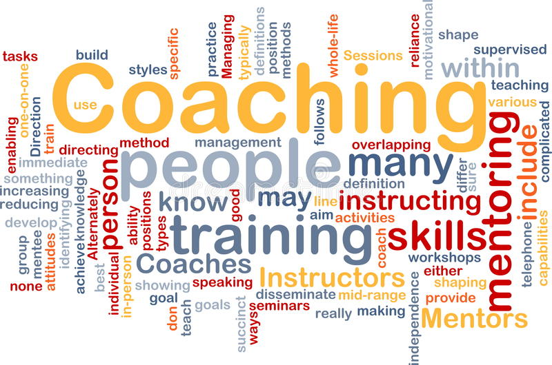 Coaching background concept royalty free illustration