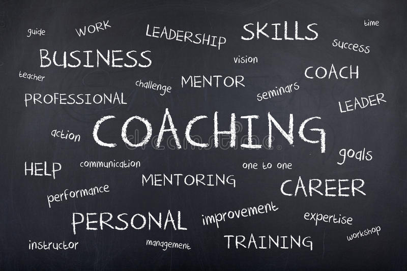 Coaching Background Concept Word Cloud royalty free stock photo